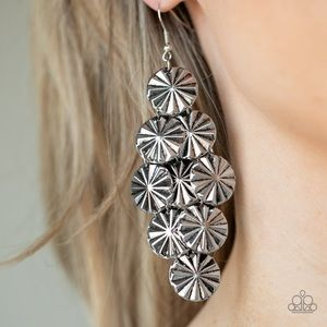 Star Spangled Shine Silver Earrings
